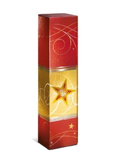 Geschenkkarton Weihnachtszauber Rot Metallic 1er