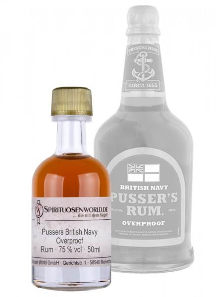 Pussers British Navy Overproof Rum Tastingminiatur 0,05 L