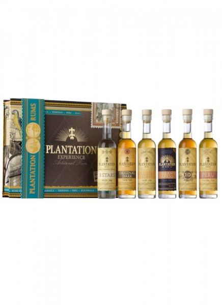 Plantation Rum Experience Box mit 6 Rums 0,6 L