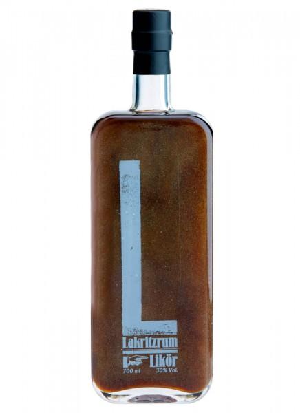 Lakritzrum Likör mit Glitzer 0,7 L