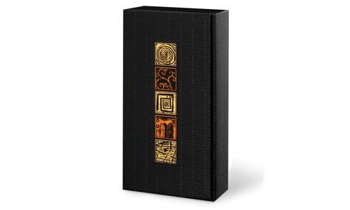 Geschenkkarton Arabesk schwarz 2er