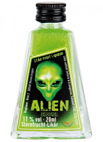 Krugmann Alien Glitzerlikör Miniatur Likör 0,02 L
