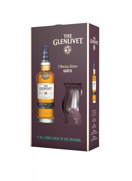 The Glenlivet 18 Years Whisky mit 2 Gläser 0,7 L