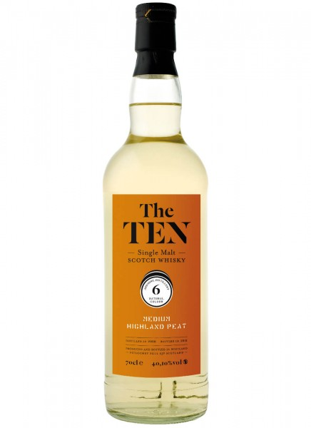 The Ten 6 Medium Highland Peat Whisky 2008 0,7 L