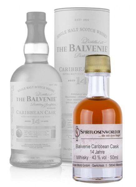 Balvenie Carribean Cask 14 Jahre Whisky Tastingminiatur 0,05 L