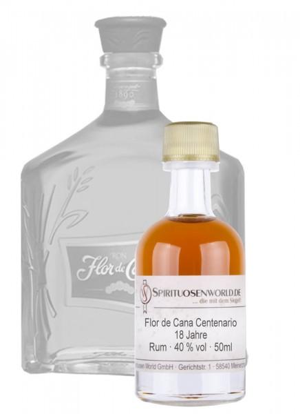 Flor de Cana Centenario 18 Jahre Rum Tastingminiatur 0,05 L