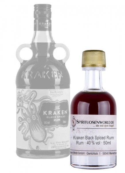 Kraken Black Spiced Rum Tastingminiatur 0,05 L