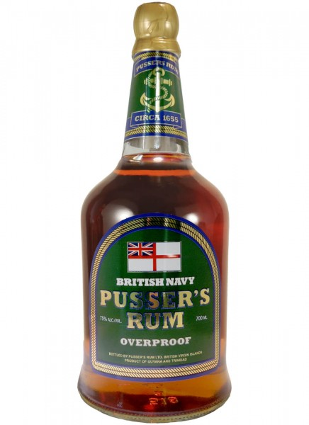 Pussers British Navy Overproof 75% 0,7 L