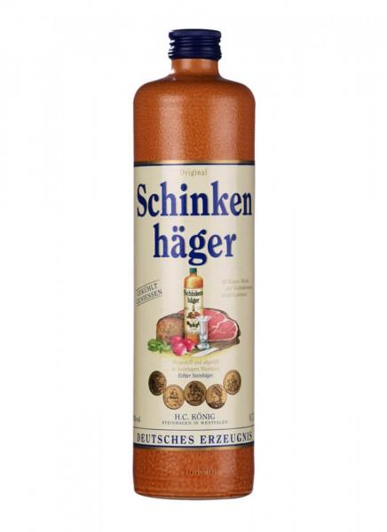 Original Schinkenhäger Wacholder Schnaps im Tonkrug 0,7 L