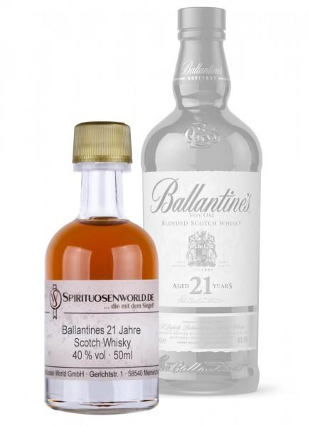 Ballantines 21 Jahre Scotch Whisky Tastingminiatur 0,05 L