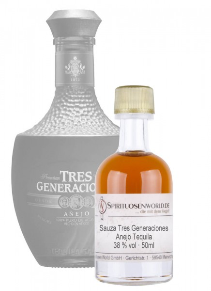 Sauza Tres Generaciones Anejo Tequila Tastingminiatur 0,05 L