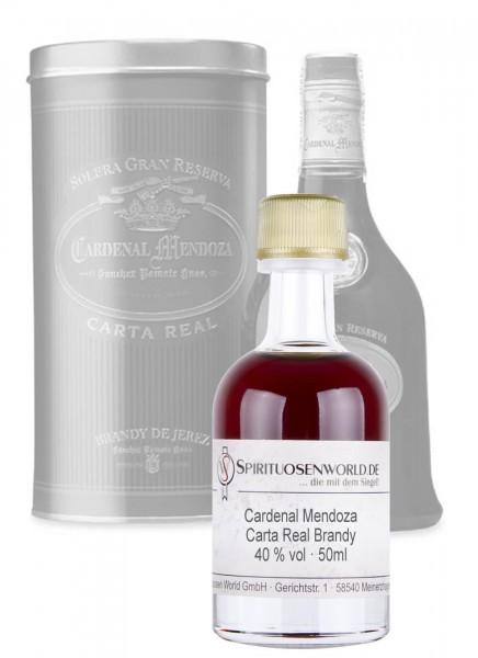 Cardenal Mendoza Carta Real Brandy Tastingminiatur 0,05 L