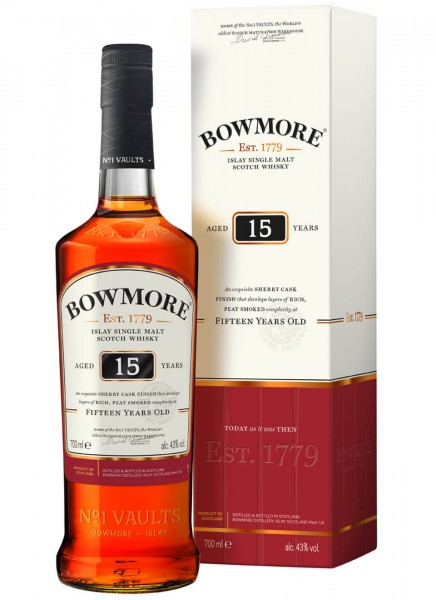 Bowmore 15 Years Islay Single Malt Scotch Whisky 0,7 L