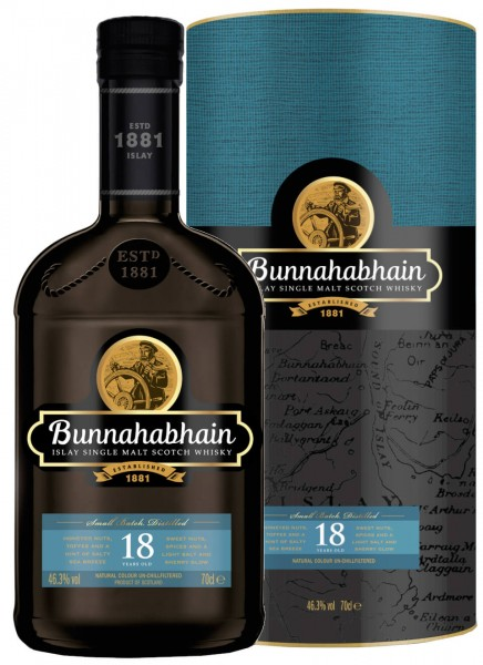 Bunnahabhain 18 Years Islay Single Malt Scotch Whisky 0,7 L