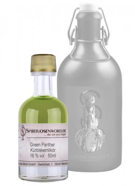Green Panther Kürbiskernlikör Tastingminiatur 0,05 L