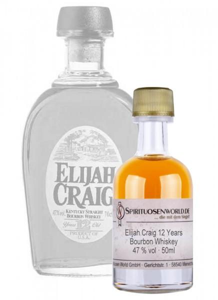 Elijah Craig 12 Jahre Whisky Tastingminiatur 0,05 L