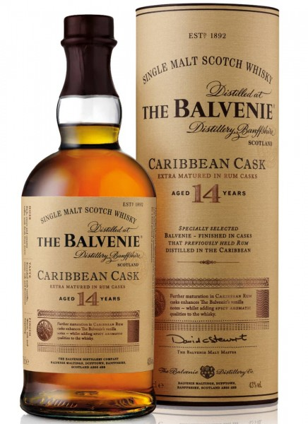 Balvenie 14 Years Carribean Cask Single Malt Scotch Whisky 0,7 L