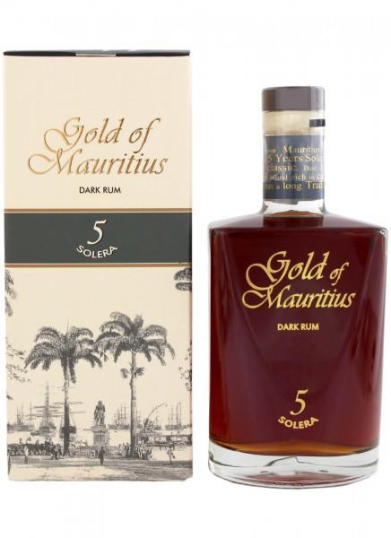 Gold of Mauritius Dark Rum 5 Solera 0,7 L