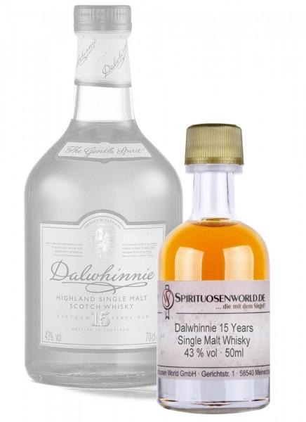 Dalwhinnie 15 Jahre Whisky Tastingminiatur 0,05 L