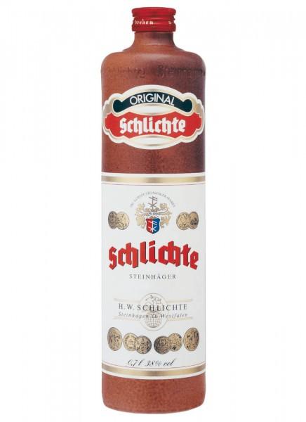 Original Schlichte Steinhäger Tonkrug 0,7 L