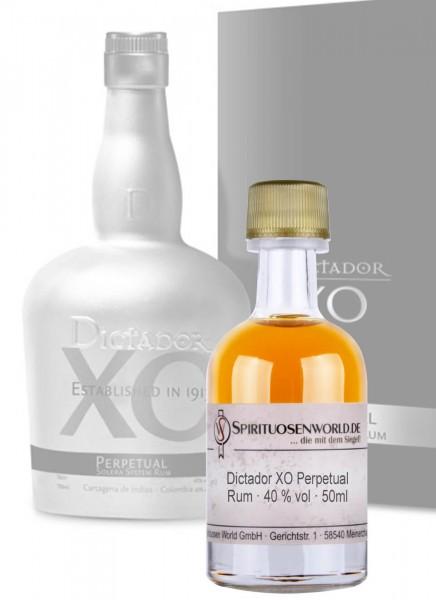 Dictador XO Perpetual Rum Tastingminiatur 0,05 L