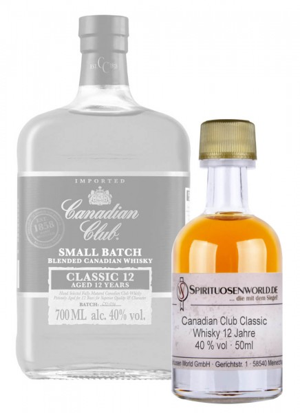 Canadian Club Classic 12 Jahre Whisky Tastingminiatur 0,05 L