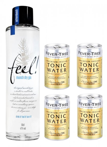 Feel! Munich Dry Gin 0,5 L + 4 Fever Tree IndianTonic 0,15 L