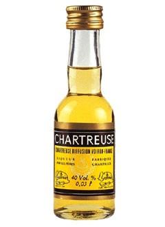 Chartreuse gelb Kräuterlikör Mini 0,03 L