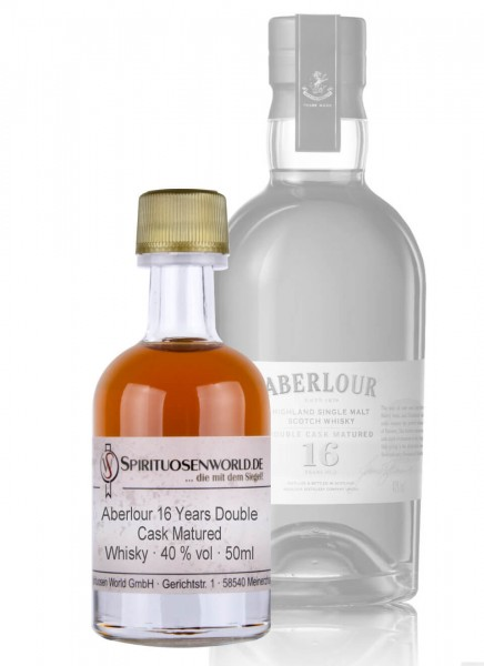 Aberlour 16 Jahre Double Cask Matured Whisky Tastingminiatur 0,05 L