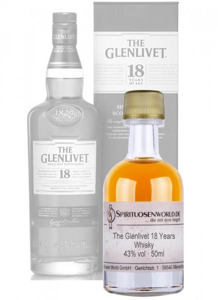 The Glenlivet 18 Jahre Whisky Tastingminiatur 0,05 L