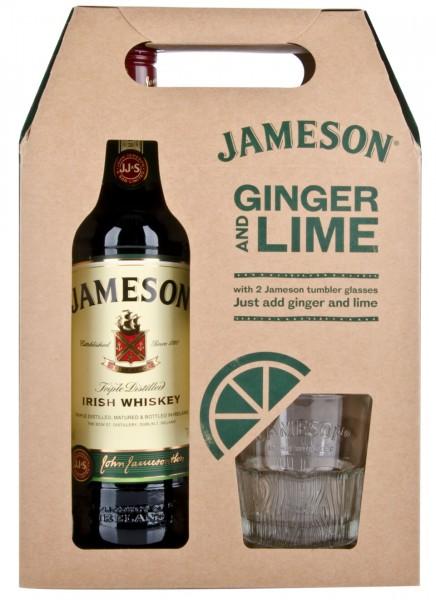 Jameson Irish Whiskey mit 2 Gläsern 0,7 L