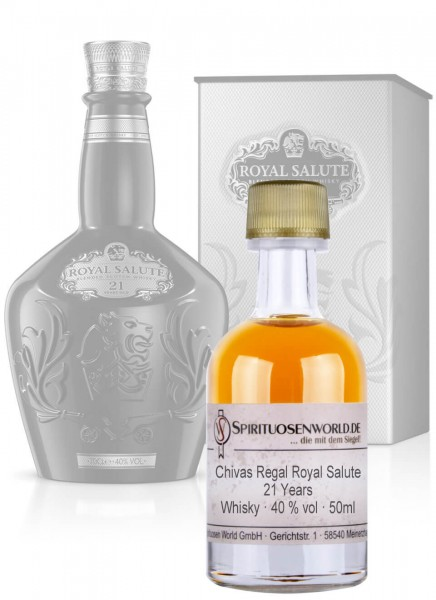 Chivas Regal Royal Salute 21 Jahre Whisky Tastingminiatur 0,05 L