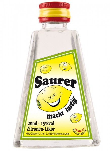 Krugmann Saurer macht lustig Miniatur Likör 0,02 L