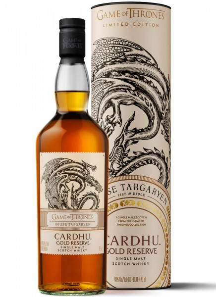 Cardhu Gold Reserve Game of Thrones Edition Whisky 0,7 L