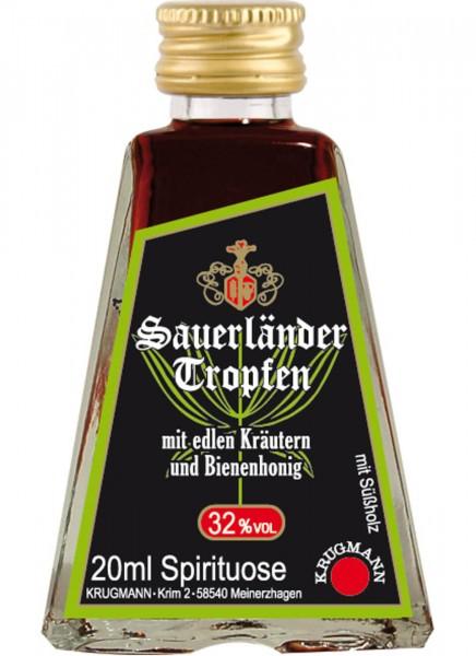 Krugmann Sauerländer Tropfen Miniatur Kräuterlikör 0,02 L