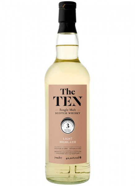 The Ten 3 Light Highland Whisky 2008 0,7 L