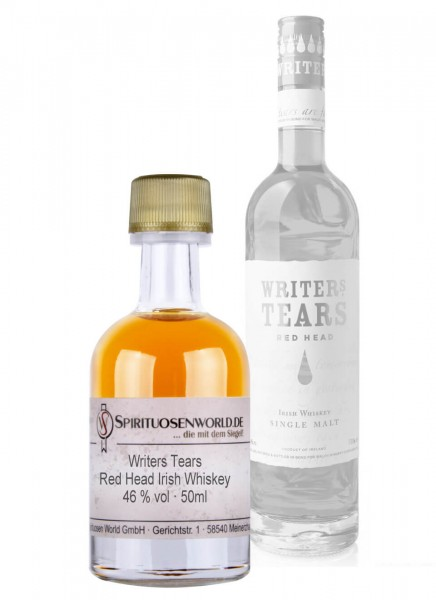 Writers Tears Red Head Irish Whiskey Tastingminiatur 0,05 L