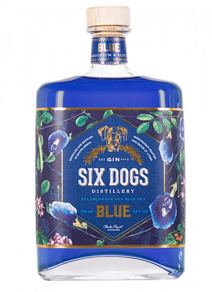 Six Dogs Blue Gin 0,7 L