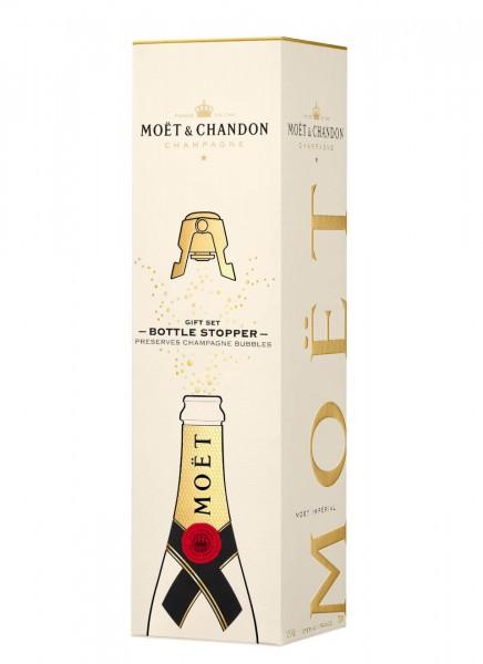 Moët & Chandon Brut Imperial Champagner 0,75 L in Geschenkverpackung mit Flaschenverschluss