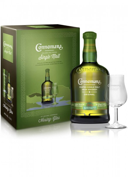 Connemara Irish Whiskey mit Nosing-Glas 0,7 L