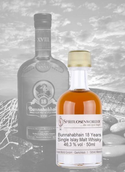 Bunnahabhain 18 Jahre Whisky Tastingminiatur 0,05 L