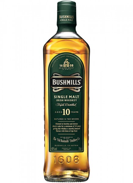 Bushmills 10 Years Single Malt Irish Whiskey 0,7 L