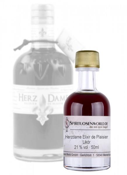Herzdame Elixir de Plaisier Likör Tastingminiatur 0,05 L