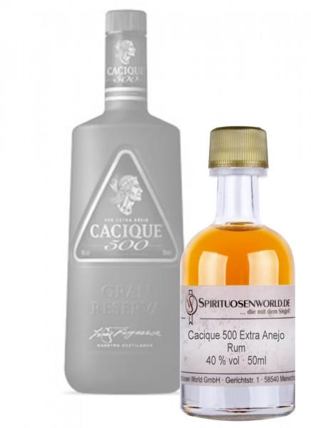 Cacique 500 Extra Anejo Rum Tastingminiatur 0,05 L