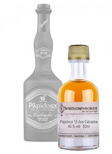 Papidoux 15 Jahre Calvados Tastingminiatur 0,05 L