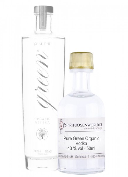 Pure Green Organic Vodka Tastingminiatur 0,05 L