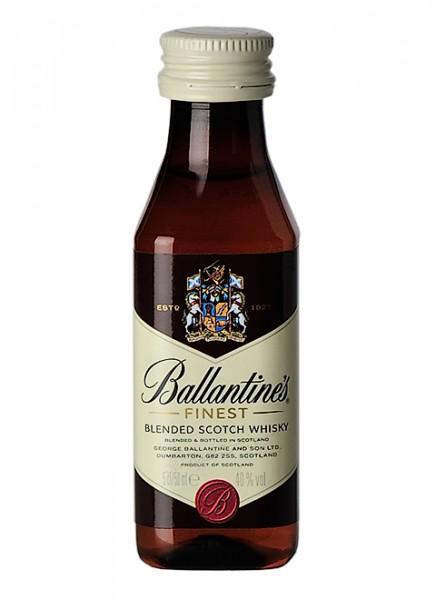 Ballantines Finest Blended Scotch Whisky Miniatur 0,05 L