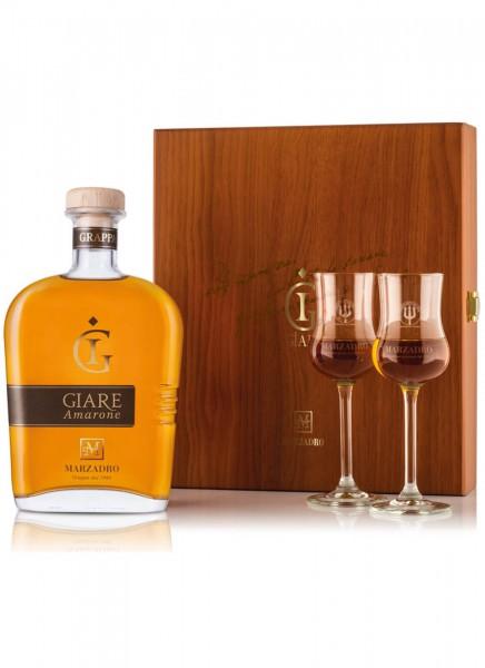 Geschenkset Marzadro Amarone mit 2 Grappa Gläser 0,7 L
