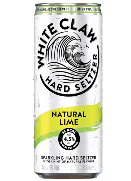 White Claw Hard Seltzer Natural Lime 0,33 L Dose