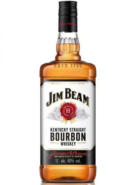 Jim Beam White Kentucky Straight Bourbon Whiskey 1 L